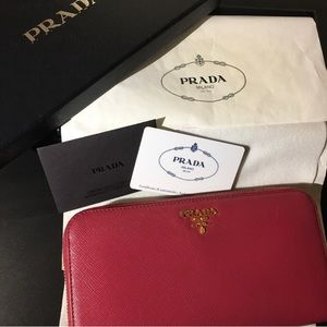 fad71a75859bc8 Women's Red Prada Leather Wallet on Poshmark